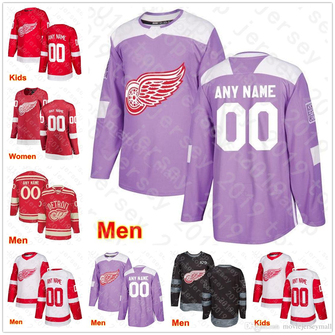 reputable site 9c9e4 016e0 2019 Men Kids Women Andreas Athanasiou Jersey Detroit Red Wings Winter  Classic Hockey Tyler Bertuzzi Anthony Mantha Frans Nielsen Red White Camo  From ...