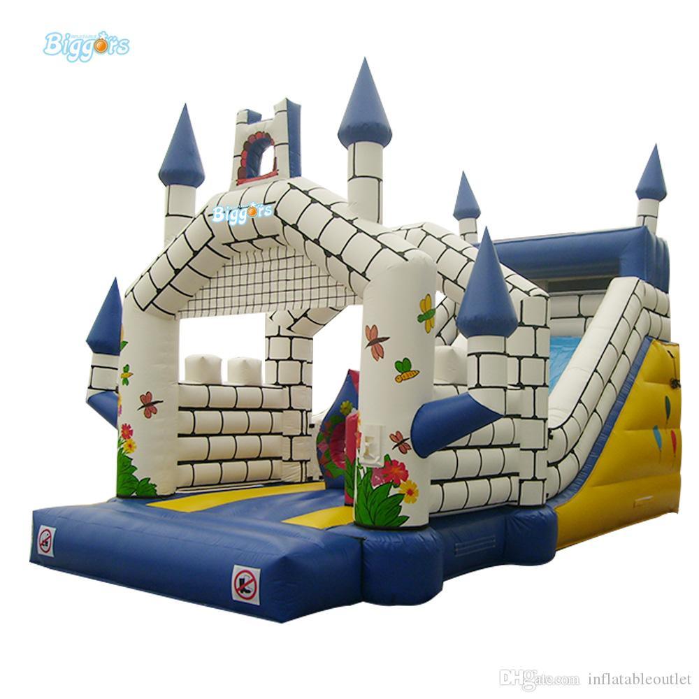 Commercial grade PVC marerial inflatable slide water slide bouncy castle combo free blower