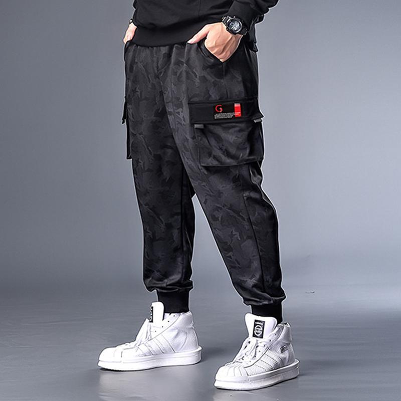 Pantalones para hombres Hombres Empalme de algodón Hip Hop Plus Tamaño 7XL Fashion Fashion Gym Gimking Ocio