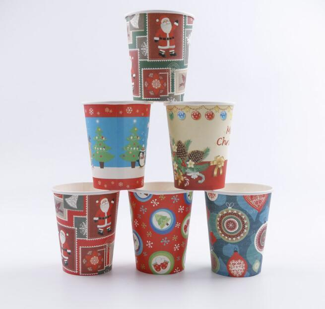 2020 Christmas Disposable Paper Cups Dishes Santa Claus Xmas Cups Party Tableware Disposable Cups Party Supplies Random Design From Verynicegirl 21 81 Dhgate Com