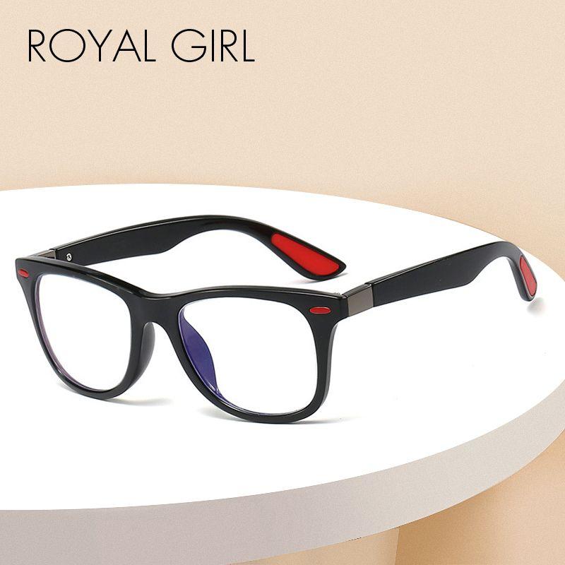 Кадр SS857 ROYAL GIRL Reading Glasses Мужчины Анти Синие лучи Компьютерные очки Игровые очки Женщины Vintage прозрачные линзы Оправы