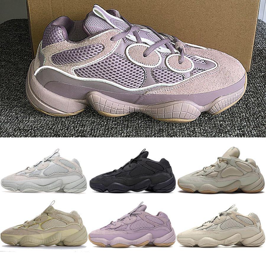 Kanye Chaussures Hommes Casual Rat 500 Desert Vision douce Sel fard à joues Os Blanc Pierre Noire Utilitaire de Super Yellow Moon Hommes Femmes Chaussures Baskets