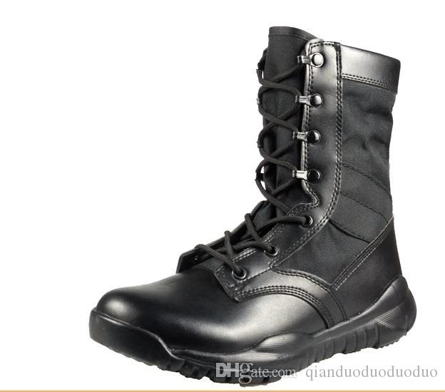 Mens Waterproof Tactical Boots Military