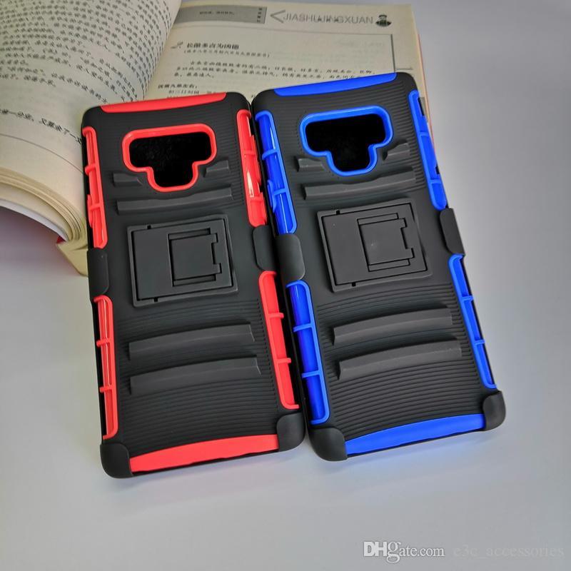 3en1 de alto impacto, cajas de teléfono resistentes y duras 180 rotativas Defender Case con Clip de cinturón giratorio para Samsung nota 9 regalo de navidad