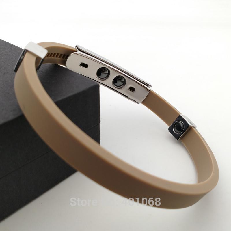 Multicolor Power 1500 ions Sports Titanium Steel Bracelet Wrist Band Improve Sleeping