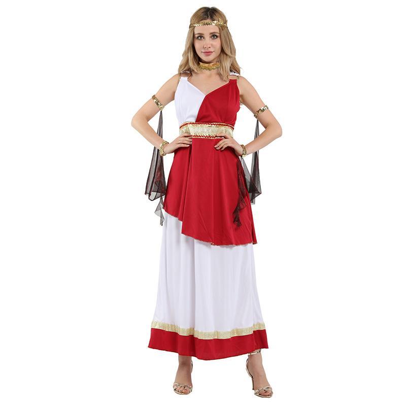 HUIHONSHE Sexy Древнегреческая богиня Афина костюмы Женщины Halloween Роман Cosplay Карнавал Маскарад Ролевая игра платье
