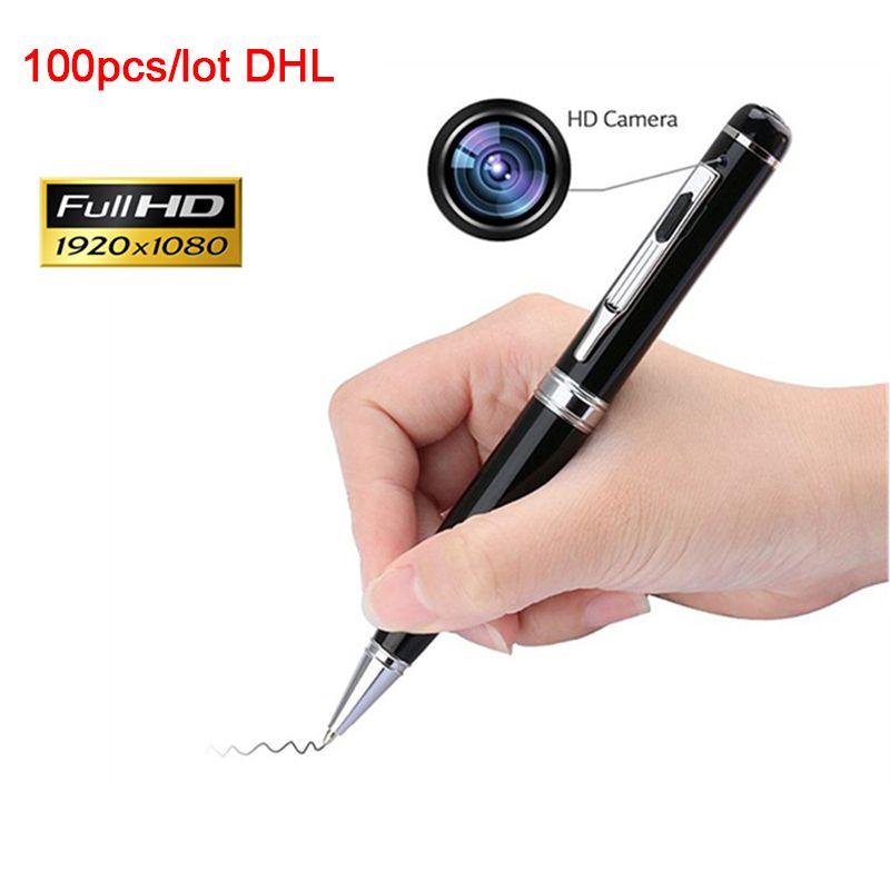 100pcs التي / 200pcs / lot الشحن DHL المهنية تسجيل صوتي رقمي فيديو صورة تسجيل البسيطة كاميرا كاميرا محمولة باليد القلم