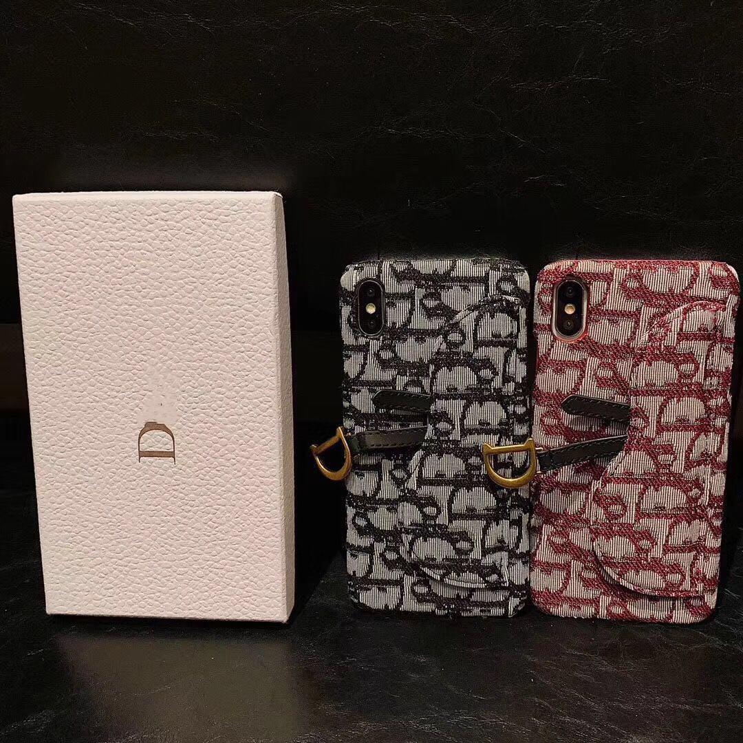 Marque D Designer Phone Case pour iPhone 11 Pro MAX XS Max XR X 6 7 8 Plus Wallet Case