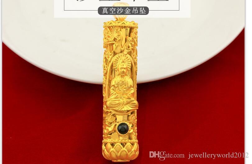 Pendentif en or alluvial vietnamien pour homme en 3D pendentif guanyin en or dur pour homme