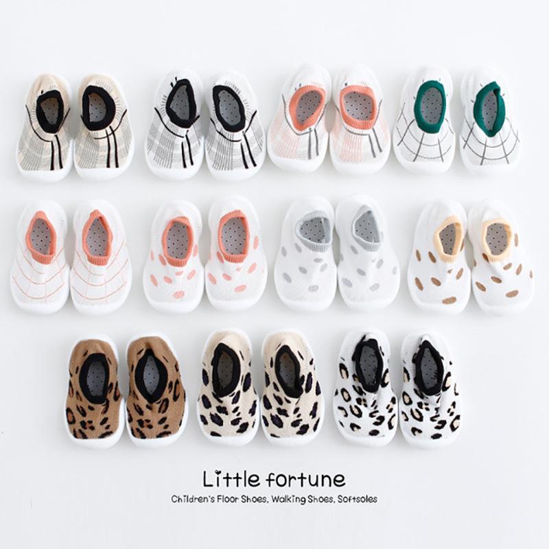 Peúgas Para Crianças Sapatos Fundo Macio E Não Escorregadio Peúgas De Cor Sólida Peúgas Sapatos Com Sola De Borracha Transparente Kid Baby