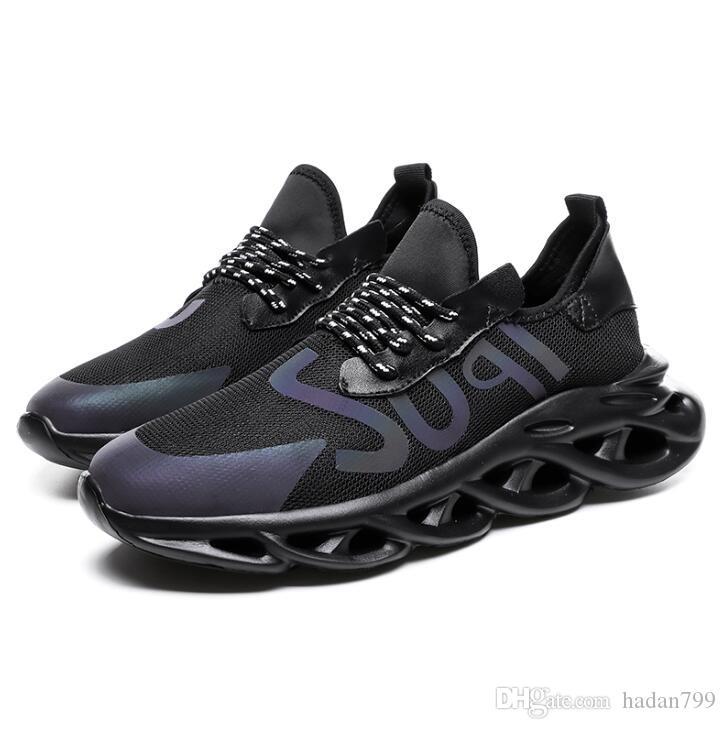 Estrenar de la llegada negro para hombre confort casual zapatos de moda Runner zapatilla de deporte de los zapatos atléticos para el hombre con malla transpirable zapatos 39-44