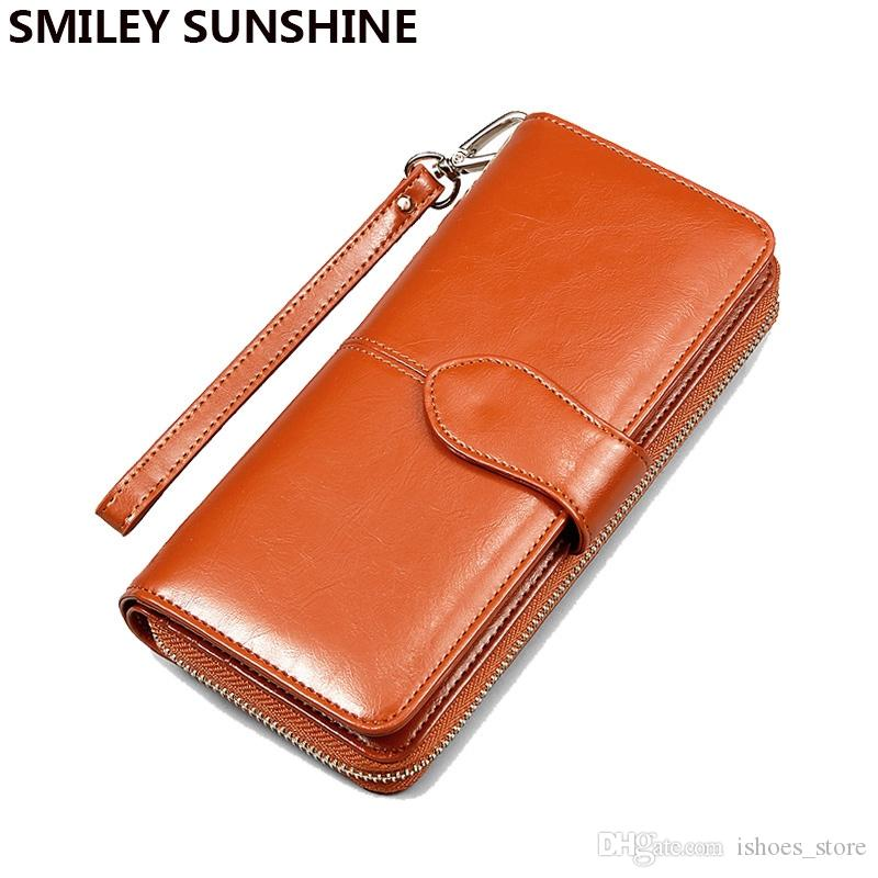 2018 Fashion Women Leather Wallets Lady Clutch Bag Female Coin Purses Holders Coin Pouch Change Purses Womens Wallets Monederos #124237