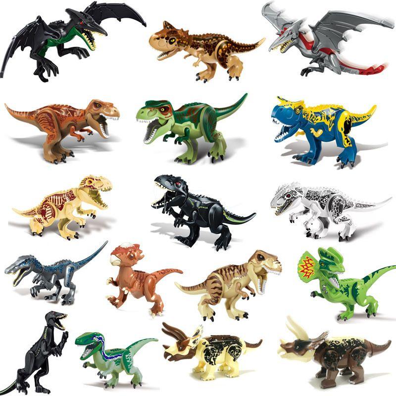 Jurassic Park World 2 Tyrannosaurus Dinosaurier Indoraptor Pterosauria Bausteine Figuren DIY Spielzeug
