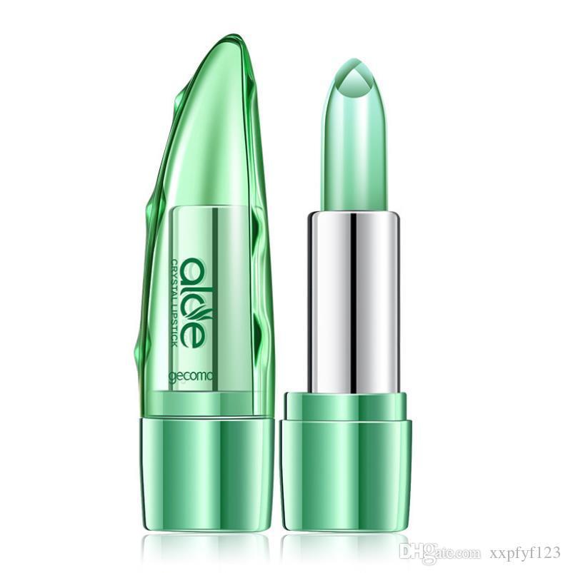 Temperature Change Lipstick Moisturizing Lasting Aloe Jelly Lipstick Color Lip Gloss Lips Care Lip Balm Lips Makeup S27