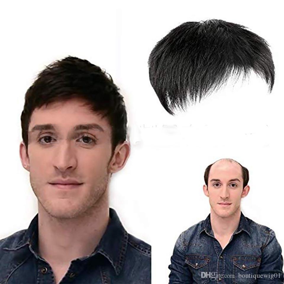 Reale capelli parrucca Mens capelli parrucchino umani parrucche pelle sottile eccellente durevole Human Wig Con Remy Uomini realistico seliing sostituzione traspirante parrucca