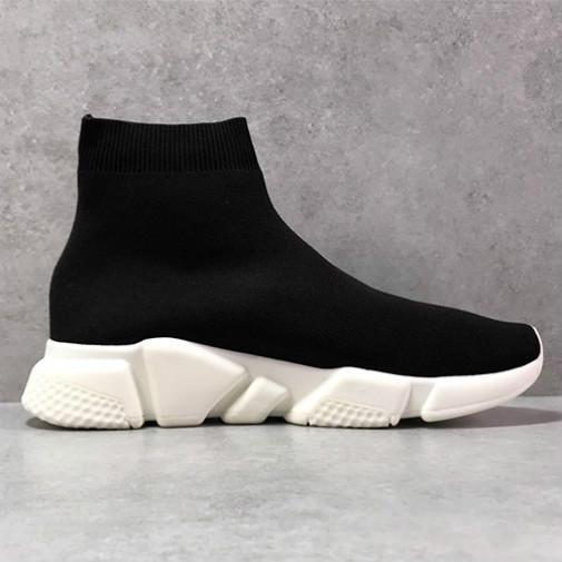 2020 paris Sock Sapatos Calçados Casual Speed Trainer alta qualidade Sneakers Speed Trainer Sock Corredores de corrida Calçados homens e mulheres negros Sapato branco