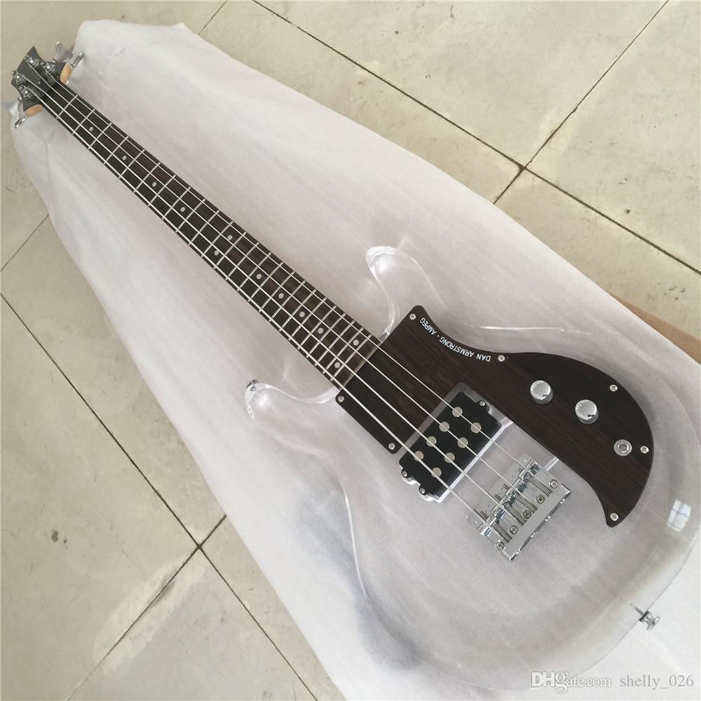 무료 배송 하이 엔드 퀄리티 아크릴 바디 4string Dan 암스트롱베이스 기타 일렉트릭 기타