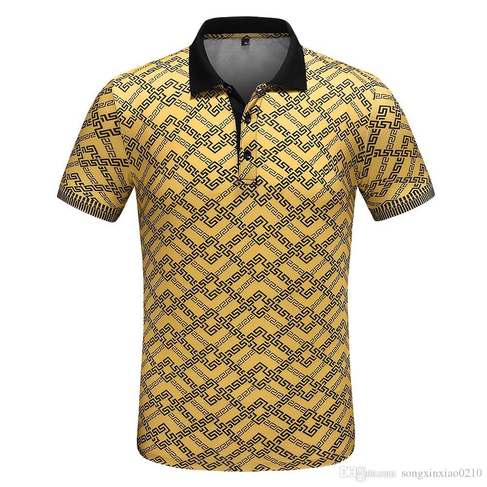 2019 HEISSE Mann-Polo-Hemdsommerart und weise calssic Luxuskleidungskurzschlußhülse beiläufige männliche Polot-shirts des Geschäfts mit Umbauten M-3XL