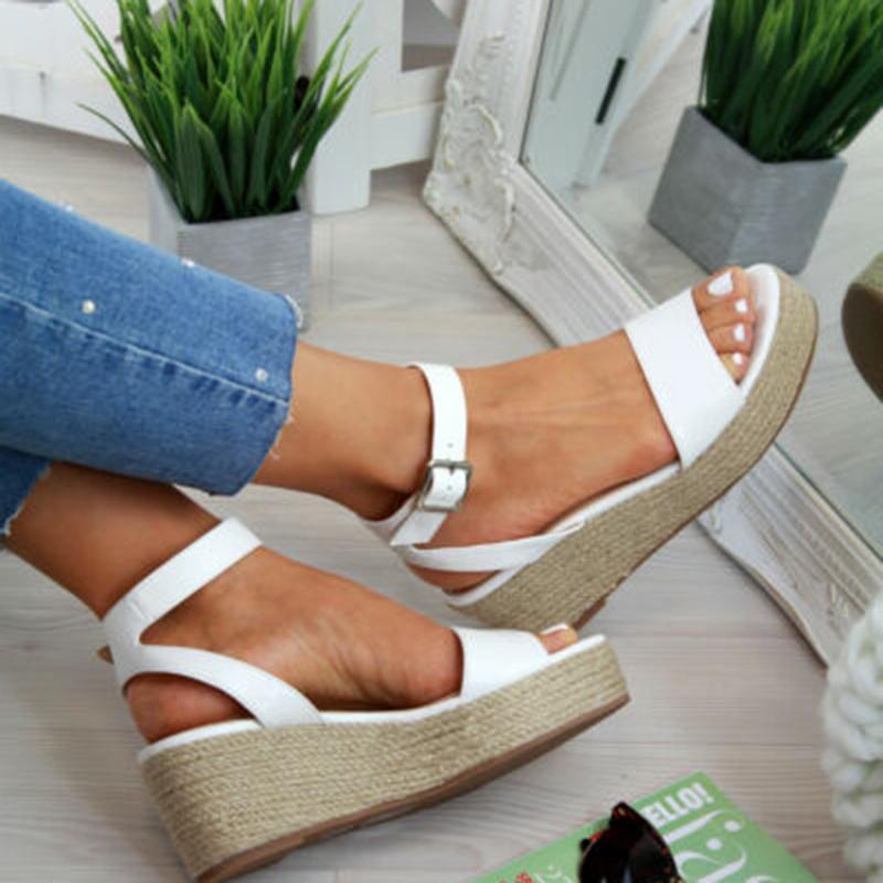 Горячие Продажа-Laamei летние сандалии платформы 2019 Мода Женщины Мини Сандал клинья обувь Повседневная женщина Peep Toe дамы сандалии платформы GMX190705
