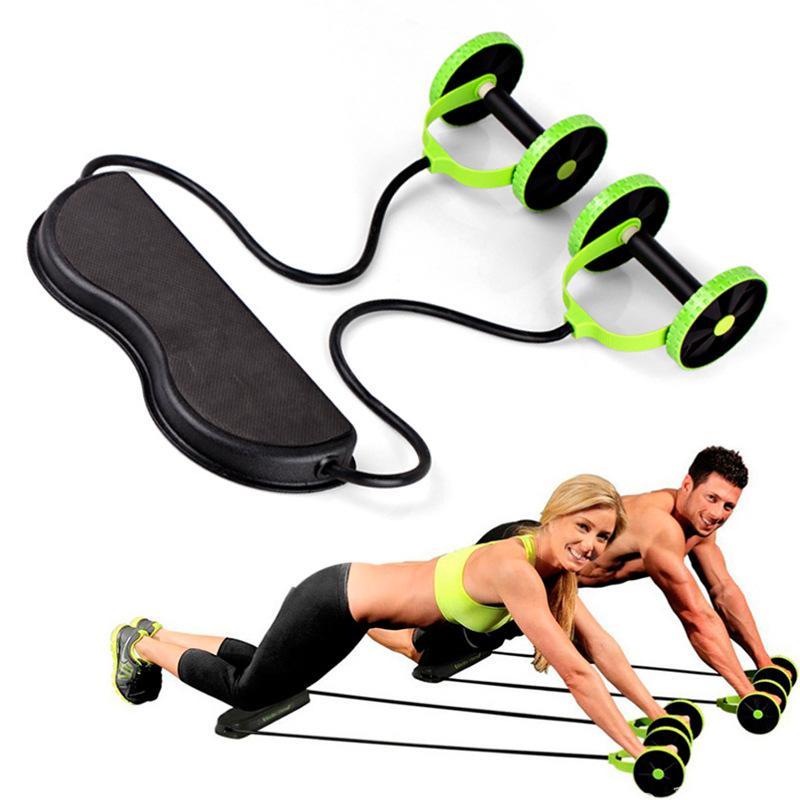متعددة الوظائف أب العجلات الدوارة تمتد مطاطا البطن المقاومة حبل سحب أداة للحصول البطن العضلات تدريب اللياقة البدنية شحن مجاني