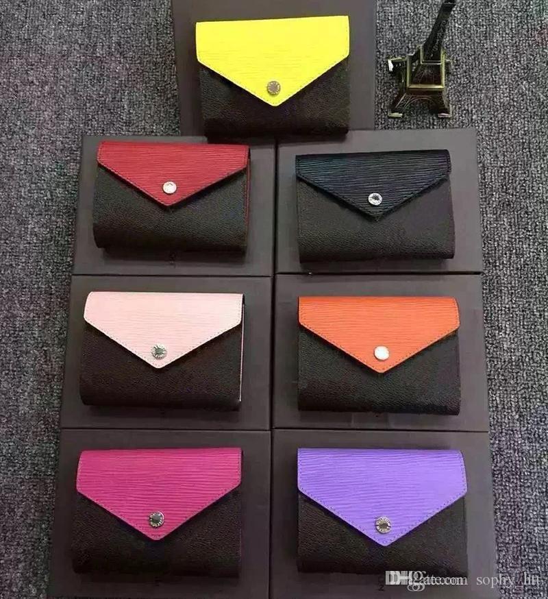 مصمم محفظة جلدية متعدد الألوان عملة محفظة قصيرة محفظة متعدد الألوان محفظة سيدة حامل البطاقة الكلاسيكية سستة جيب صغير