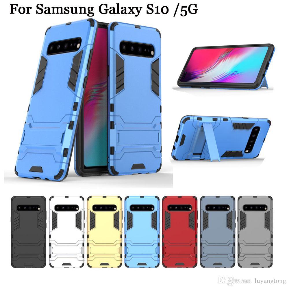 """Homem de ferro armadura case para samsung galaxy s10 6.7 """"case híbrido tpu + pc à prova de choque anti-knock protetor capa para samsung galaxy s10 5g funda"""
