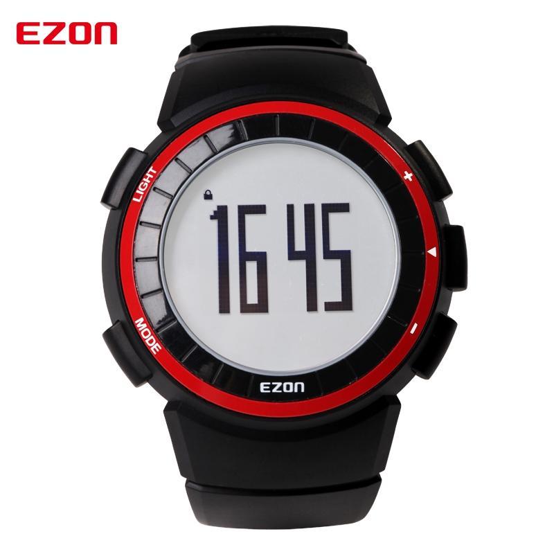 السعرات الحرارية EZON T029 الرجال الرياضة ووتش مقياس الخطو توقيت أزياء في الهواء الطلق للياقة البدنية الساعات 50M ماء المعصم الرقمية