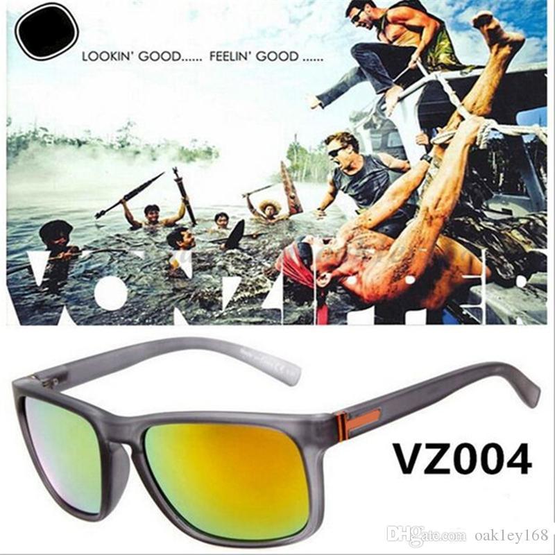حار بيع الإطار الكبير مصمم النظارات الشمسية النظارات الشمسية VZ 004 للرجال والنساء الرياضة نظارات شمسية للجنسين الرياضة في الهواء الطلق عدسة مكبرة