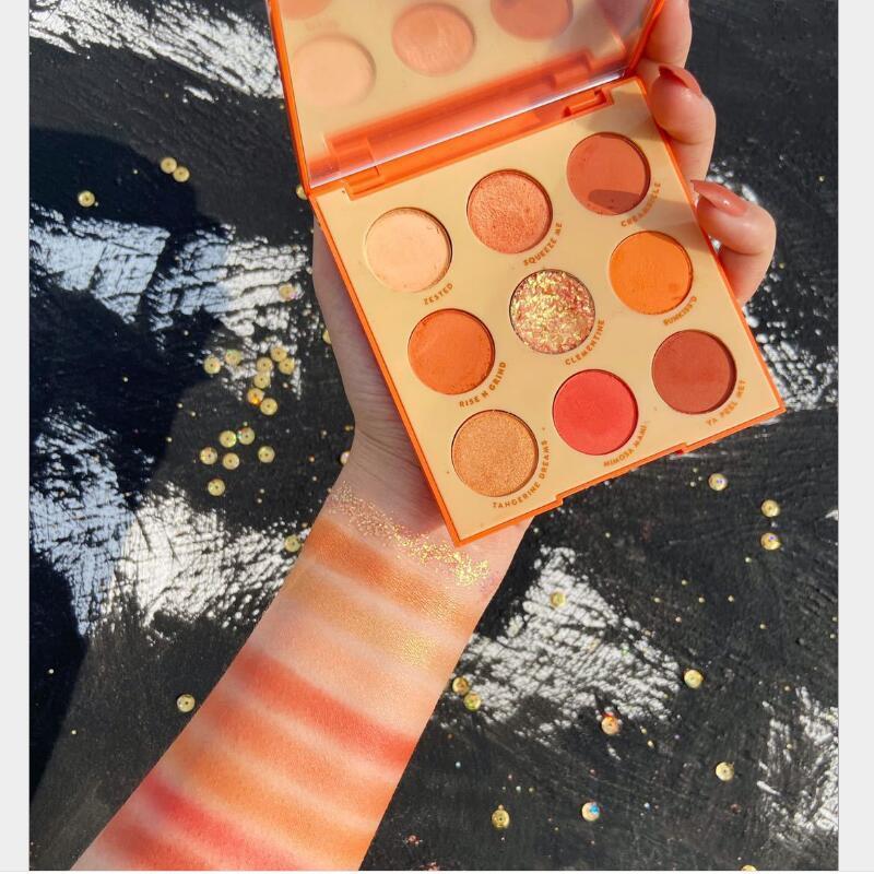 GUICAMI neun Farbe Obst Lidschatten Make-up Platte Tablett nett feinen Kokos Honig Pfirsich Orange Lidschatten