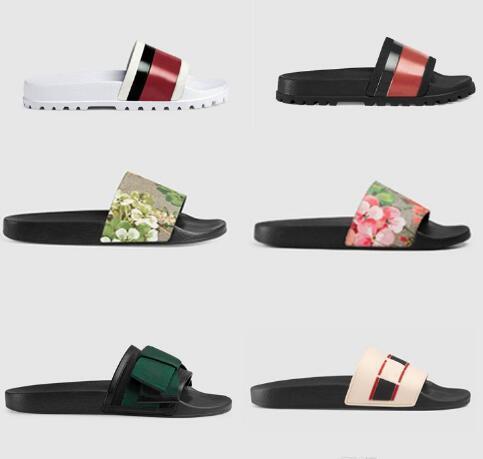 Luxo Designer Shoes Homens Mulheres Sandálias Chinelos Pérola Cobra Deslize Imprimir Luxo Verão larga e plana Sandals Slipper Com Box saco de poeira 35-46