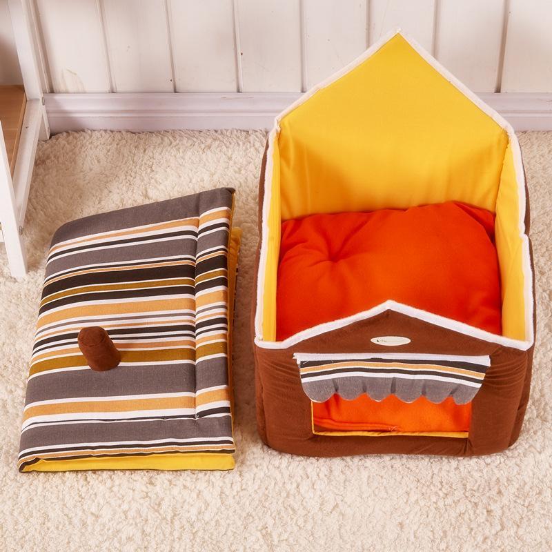 Dog Bed Casa Sofá Grande bonito Pet cama quente e macio Pet Kennel Cat Dogs Casa Dormir ninho Bag Dog personalizado Casa Camas