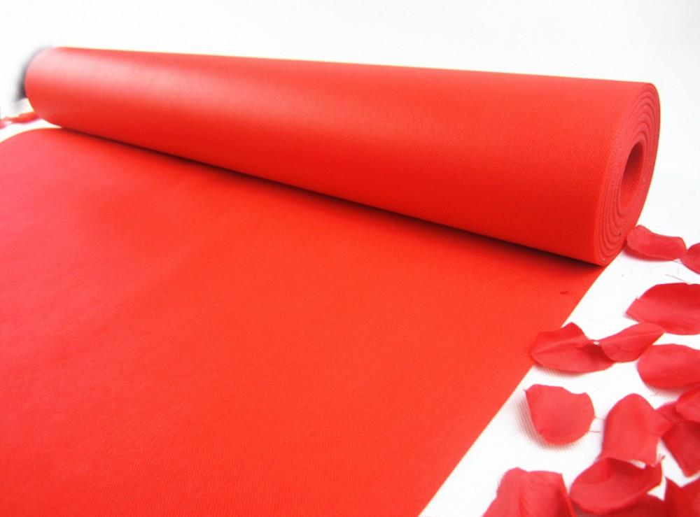 جودة عالية الأحمر أقمشة غير منسوجة السجاد الممر عداء 1 متر عرض 20 متر طول الديكور حفل زفاف
