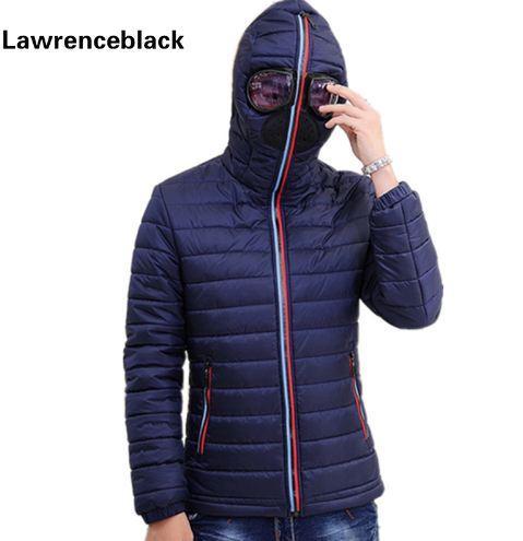 Lawrenceblack Winter Jackets Men Parkas with Glasses Padded Hooded Coat Mens Warm Camperas Children Windproof Quilted Jacket 839