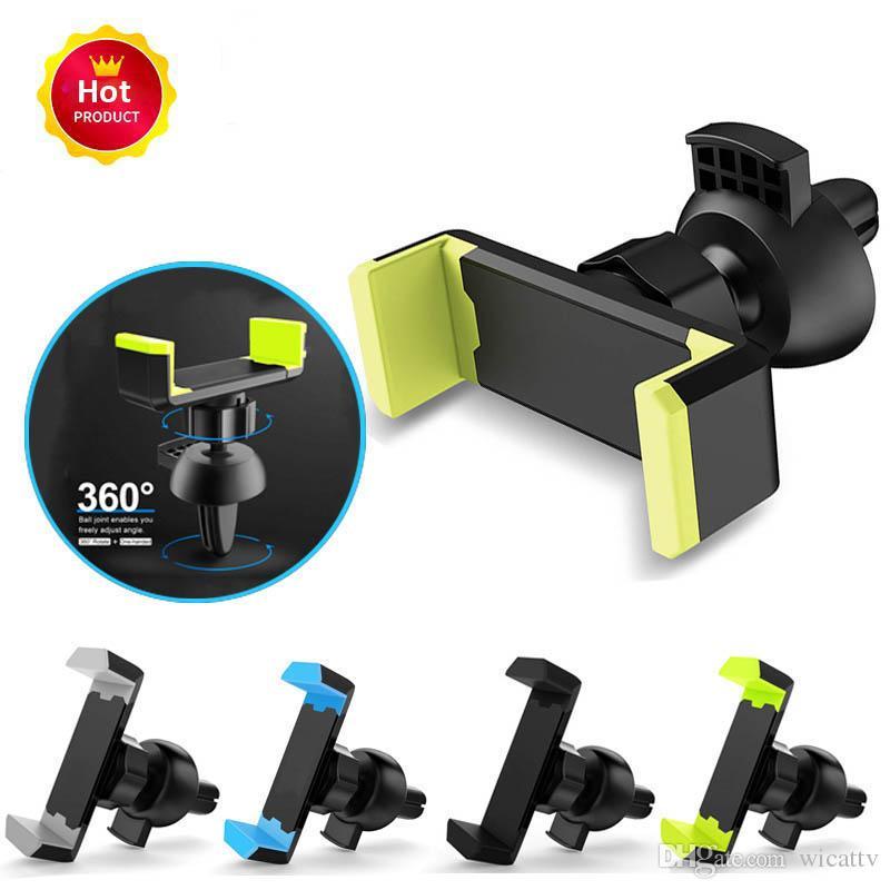 Support voiture universel de téléphone pour iPhone 8 X 7 Mini Air Vent Mount Holder 360 Rotation voiture Support de portable stand