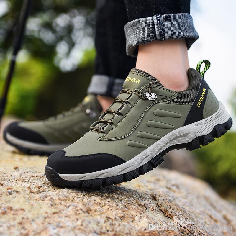 2020 di modo di Newe pattini correnti del mens oliva cachi verde grigio all'aperto scarpe da ginnastica mens shoes istruttori sportivi di marca fatta in casa Made in China