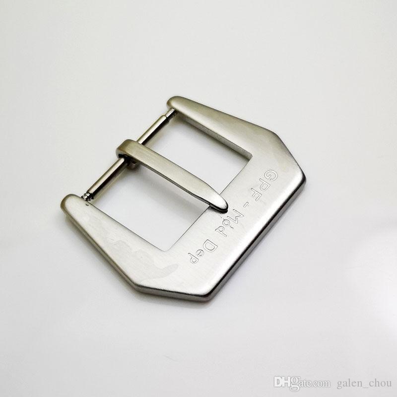 Good DEP Ремешок Качество Группа Матовый GPF-MOD Пряжка 22 мм Серебристый Кожаный PAM Резина для модного PINADW
