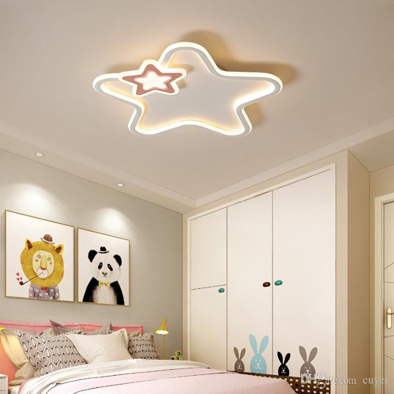 2019 Modern Led Ceiling Light Pink Star Lights For Bedroom Children Kids  Baby Room Black White Girls Boys Lighting Home Ceiling Lamp From Cuyer, ...
