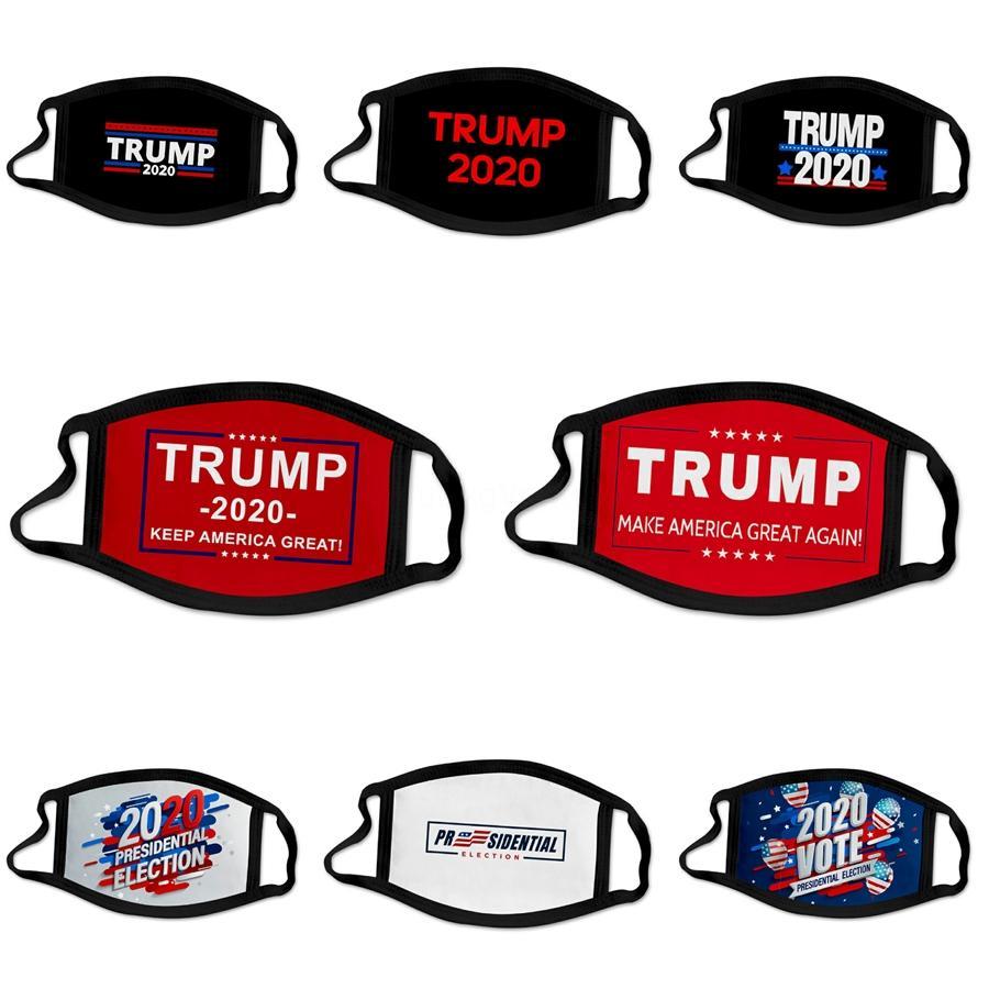 Designer Masques de protection Trump réutilisable PM2,5 Filtre impression Bouche Masque anti-poussière Masque bouche coupe-vent moufles 84 Styles Damon013 # 242