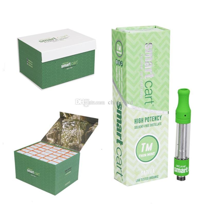 New Smart Carts Vape Cartridges Packaging Empty Vape Pen Vaporizer Pen 510  Thread Cartridge 1ML E Cigarettes Vape Tank Thick Oil Dank Vapes