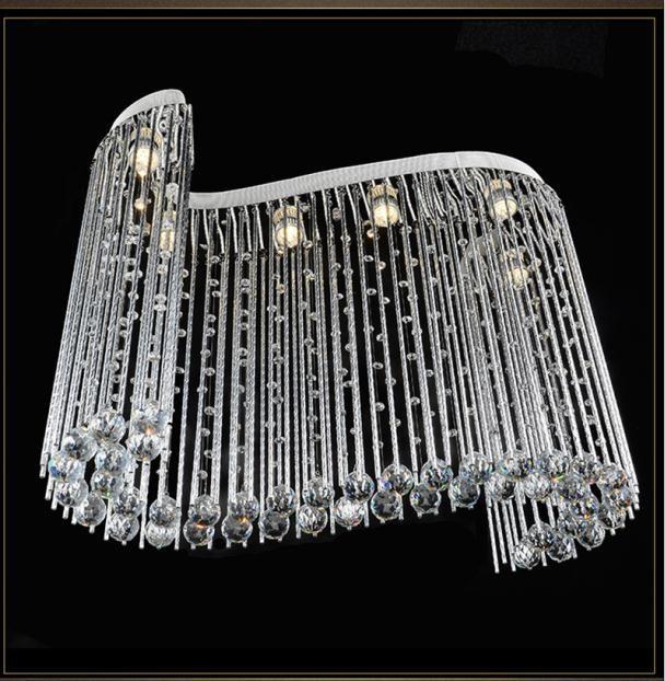 forma Tubor S creativo soffitto di cristallo goccia di pioggia lampadario apparecchi di illuminazione Lampada moderna per soggiorno sala da pranzo