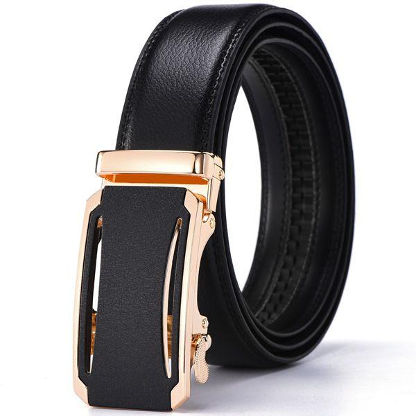 New Designer Men's Belts Luxury Fashion Belt for Men High Quality Automatic Buckle Male Waist Strap Black Vintage Buckle
