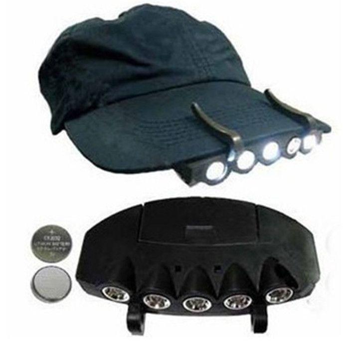 5LED супер яркий колпачок свет фар фары головной фонарик головной колпачок шляпа свет клип на свет Рыбалка головной фонарь DLH073