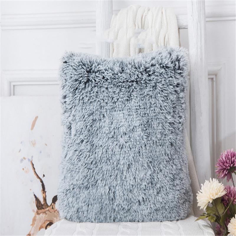 Capas de almofada 43X43cm Pillow Almofada De Salon sofá fronha de almofada de pelúcia peludo Nordic Kussenhoes Home Bed Sofá Decoração