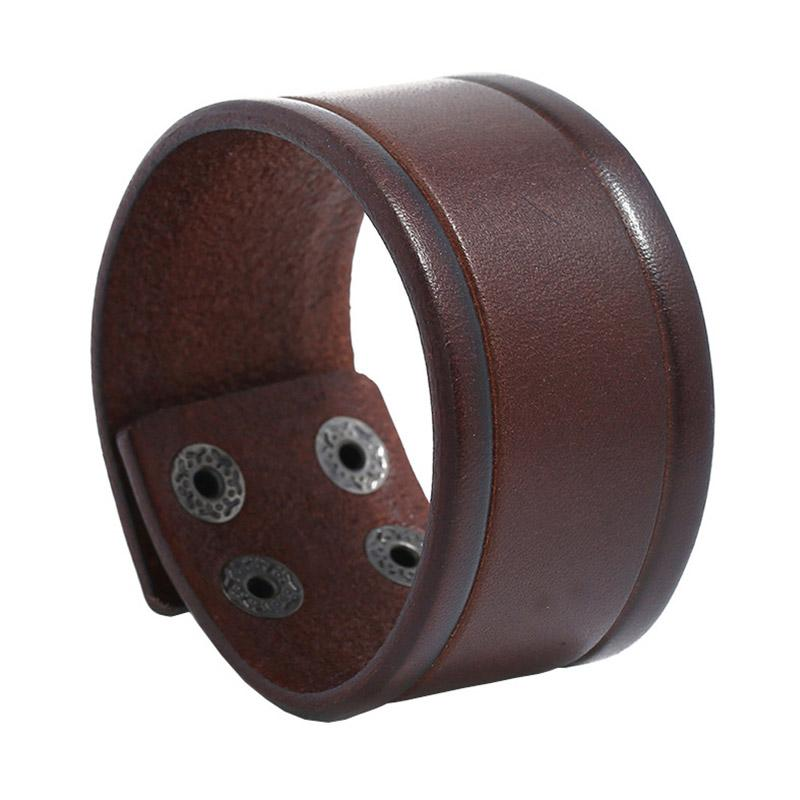 Regalos de los hombres de la vendimia de pulseras de cuero joyería de moda del punk rock Cuff Wrap brazaletes de las pulseras Accesorios Mujer Unisex Muñequera