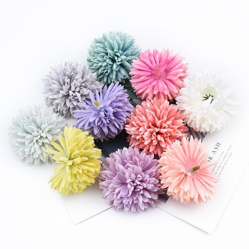 12PCS floral artificial casa decoración de la boda del crisantemo plantas artificiales flores decorativas guirnaldas regalos de DIY pared de la caja de la flor