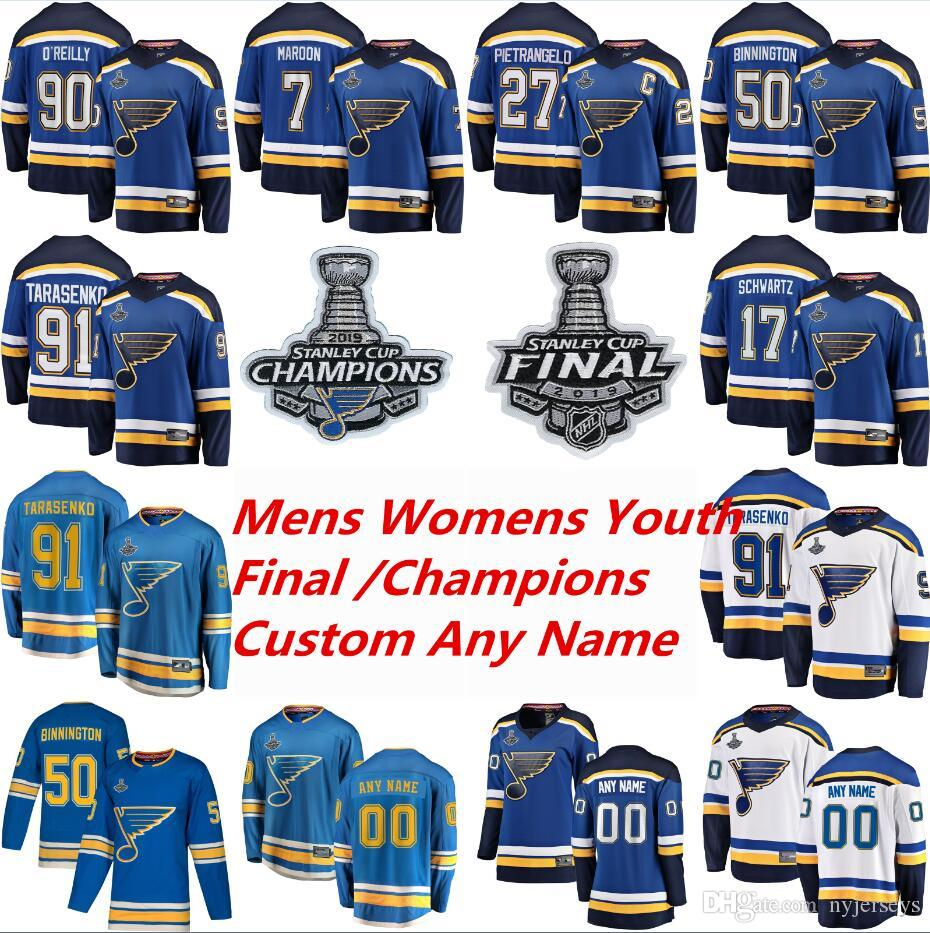 2019 Stanley Cup Final St Louis Blues Hockey Jerseys Vladimir Tarasenko Jersey Alex Pietrangelo Jake Allen Colton Parayko Binnington personalizado