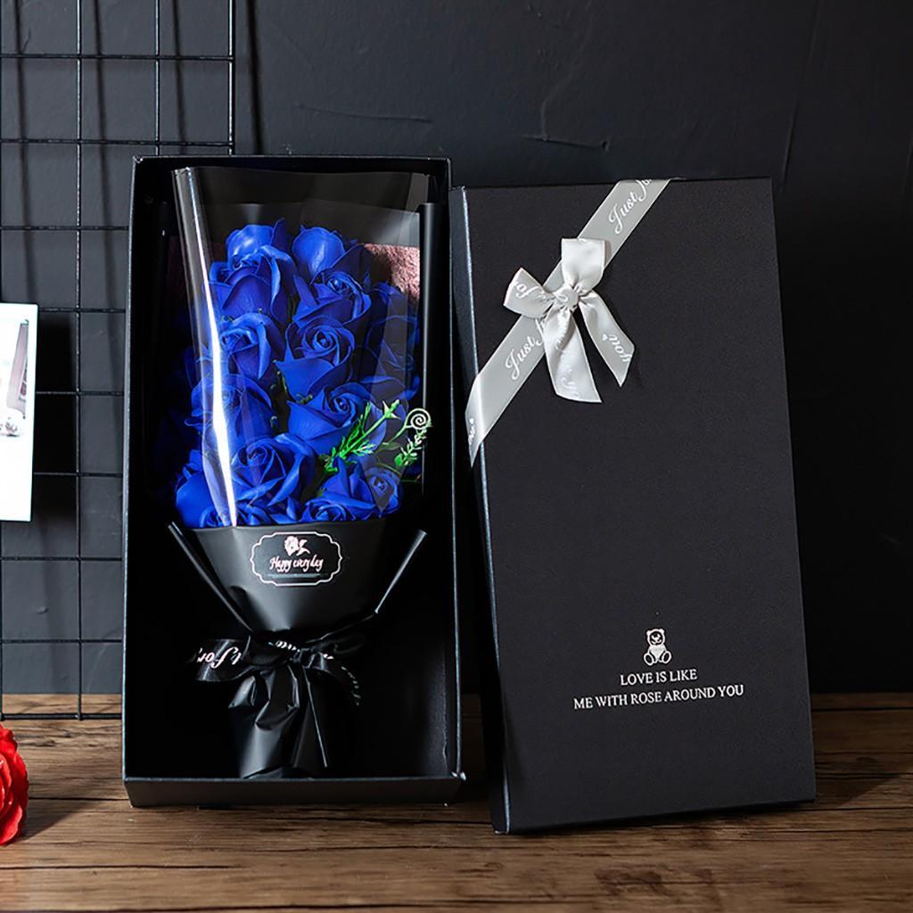День DIY мыло Flower Gift Box Rose Bouquet Свадебный Главная Фестиваль подарков Искусственные розы Мыло Цветочный букет F10 Валентина