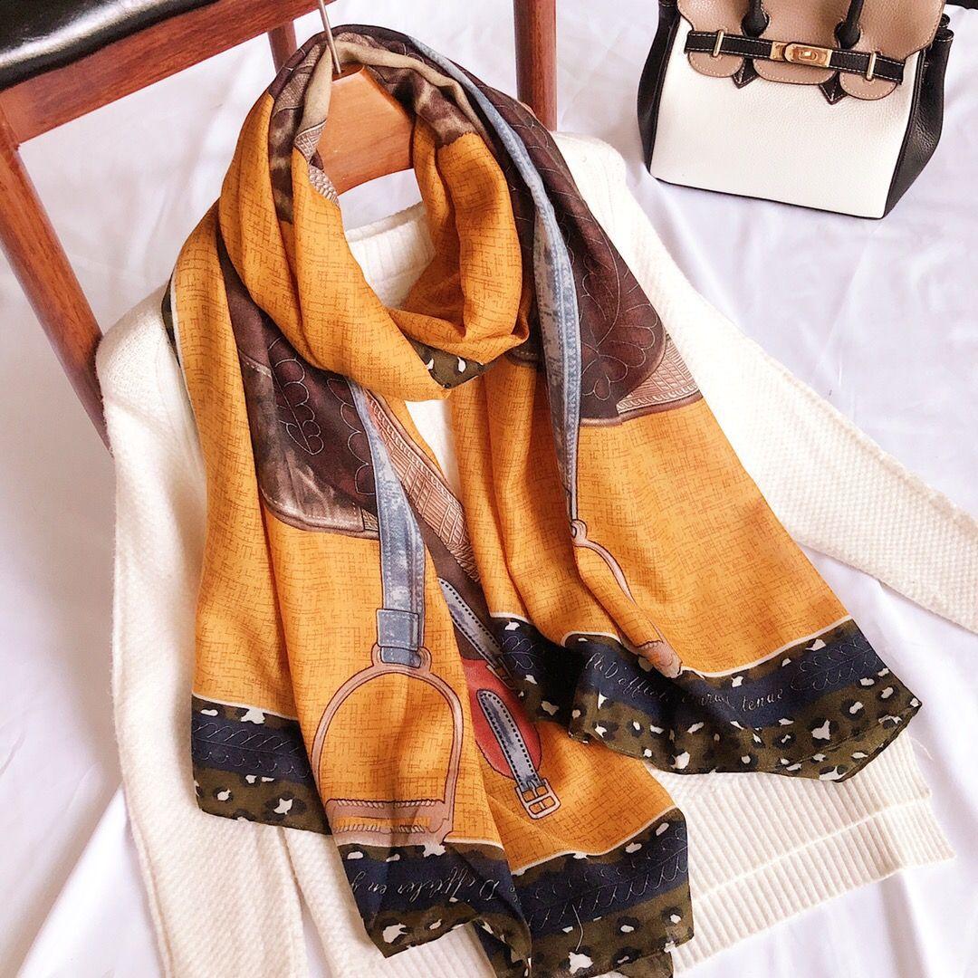 Handmade Cotton Scarf Women Spring Winter Scarves Shawl Wraps Ladies Hijab Horse Saddle Print 180*70cm