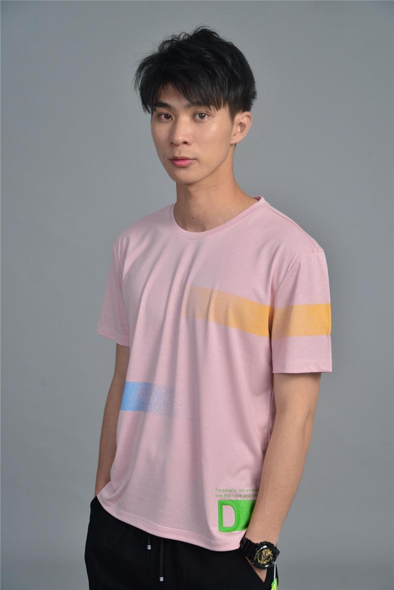 Лето печати Mens Tshirts моды с коротким рукавом Экипаж шеи Тис Обычная длина Сыпучие одежда