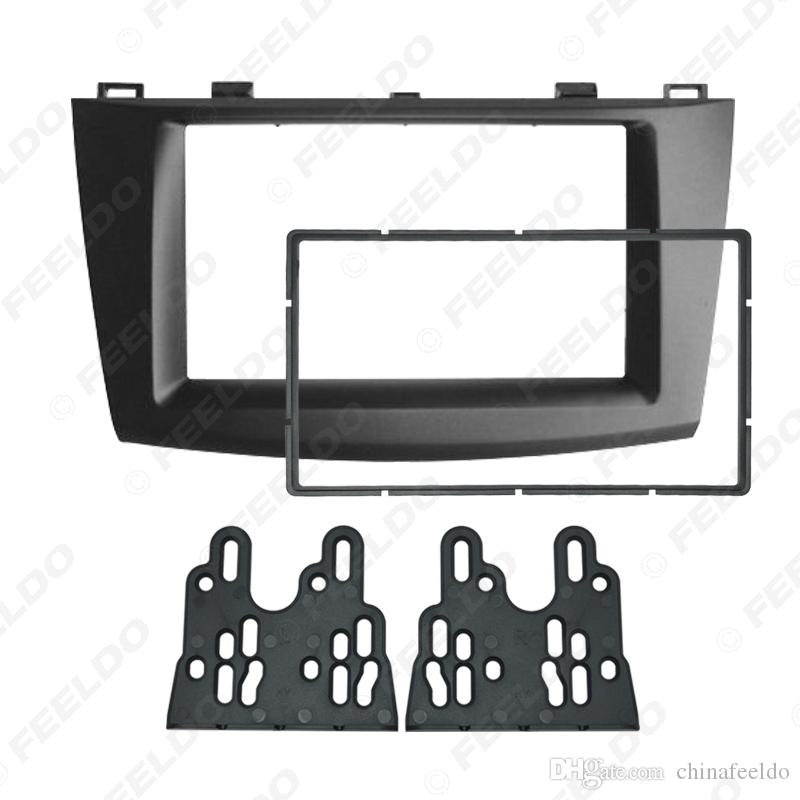 Car Audio Radio Fascia Plate Panel Frame for Mazda 3 2010-2013 2DIN Installation Dash Mount Trim Kit #5004